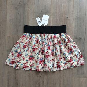 MILLAU LF Store Cream Floral Skirt NWT $116